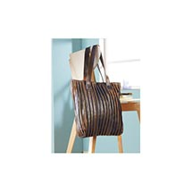 Pleated Antiqued Leather Handbag
