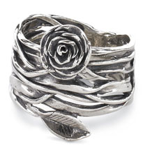 Wrapped Rose On The Vine Ring