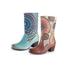 Shimmering Sunburst Boots