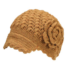 Cottage Crocheted Newsboy Cap