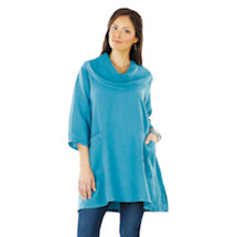 Loose Cowl Neck Tunic Top