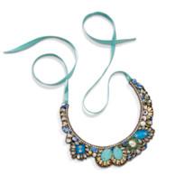 Pacifica Beaded Silk Collar Necklace