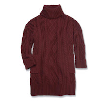 Aran Pullover Sweater - Burgundy