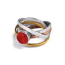 Multi-Metal Carnelian Ring