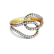 Cubic Zirconia Circuit Ring
