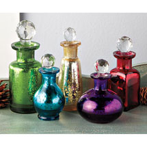 Bohemia Mercury Glass Bottle Set