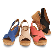 Clarks Caslynn Wedge Leather Sandals