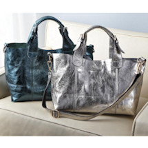 Anissa Metallic Leather Handbag