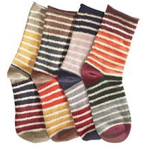 Mix & Match Striped Socks - Four Pairs