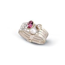 Garnet Grove Stacked Ring
