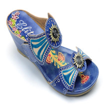 Sweet Hand-Painted Wedge Sandal