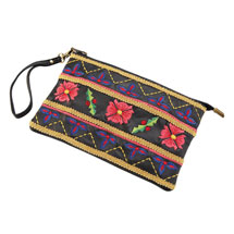 Double-Duty Embroidered Wristlet