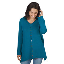 Novelty Button Tunic Top