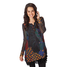 Primavesi Multi-print Tunic Top