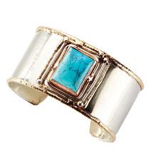 Quadra Turquoise Cuff Bracelet