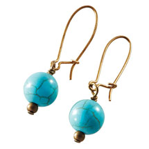 Sasa Design Howlite Earrings