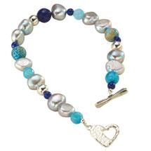 Blue Lagoon Pearl Bracelet