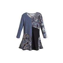 Patchwork Paisley Tunic Top