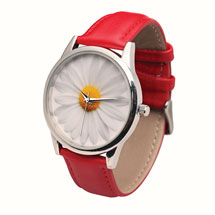 Darling Daisy Leather-Band Watch