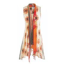 Tangerine Patchwork Vest