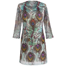 Peacock Lacey Tunic Top