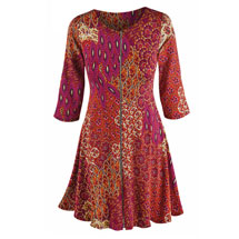 Rojo Paisley Zip Dress