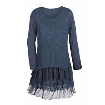 Star Lace Layered Tunic Top