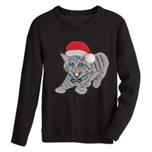 Christmas Kitty Light-Up Sweater