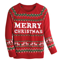 Merry Christmas Light-Up Sweater