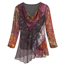 Plum Whimsy Tunic Top
