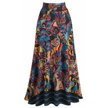 Vivid Paisley Maxi Skirt