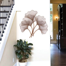 Rose Gold Ginkgo Leaf  Wall Décor