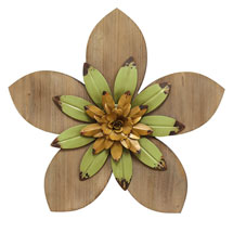 Rustic Flower Wall Décor - Green