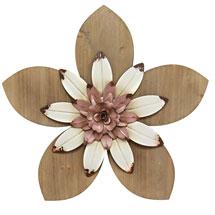 Rustic Flower Wall Décor - Cream