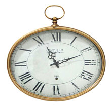 Golden Oval Wall Clock