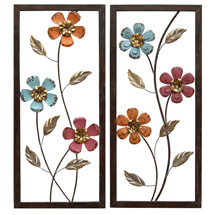 Floral Panel Wall Décor - Pair