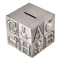 ABC Block Piggy Bank