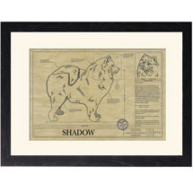 Personalized Framed Dog Breed Architectural Renderings - Samoyed