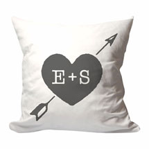 Personalized Heart And Arrow Initials Pillow