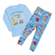 "Personalized ""Goodnight, Goodnight, Construction Site"" Children's Pajamas"