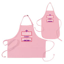 "Personalized Pink ""Kitchen Superstar"" Mommy and Me Apron Set"