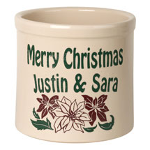 "Personalized ""Merry Christmas"" Crock"