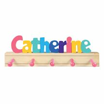 Personalized Children's Wooden Coat Rack - 7-12 Letters