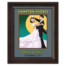 Personalized Vintage Dancers Framed Canvas
