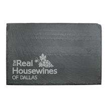"Personalized ""Real Housewines"" Slate Cheese Board"