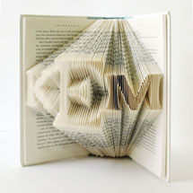 Custom Folded Book Art - 3-Letter Monogram
