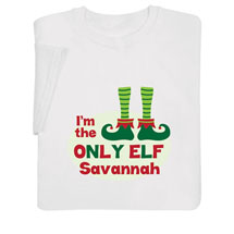 "Personalized ""Only Elf"" Shirt"
