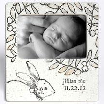 Handmade Ceramic Baby Bunny Photo Frame