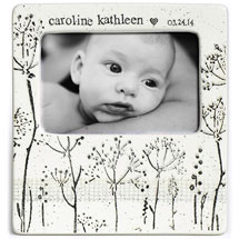 Handmade Ceramic Baby's Breath Photo Frame
