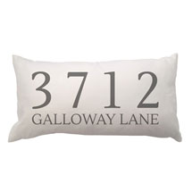 Personalized Address Lumbar Pillow